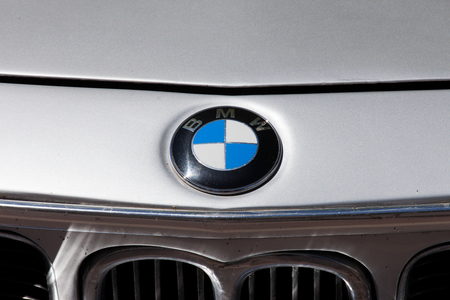 car grill: BMW car front grill with emblem