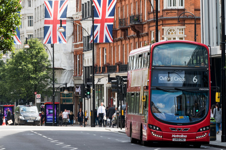 doubledecker: Typical Double-Decker red bus in central London Editorial