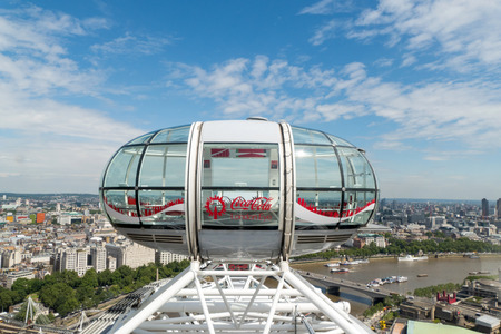 millennium wheel: London eye capsules with a view of Central London