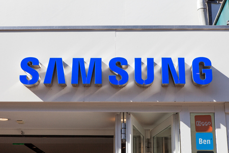 samsung: Samsung logo. Samsung is a South Korean multinational conglomerate company headquartered in Samsung Town, Seoul.