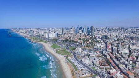Tel Aviv orizzonte Archivio Fotografico - 65080992