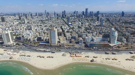 텔 아비브의 스카이 라인 스톡 콘텐츠