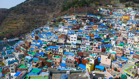 Gamcheon-Dong, Busan (South Korea) - Known for its steep streets, twisting alleys, and brightly painted houses