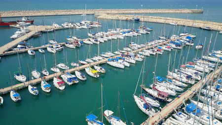 Large marina with various Yachts and boats