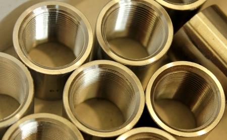 threaded: Steel threaded cylinder
