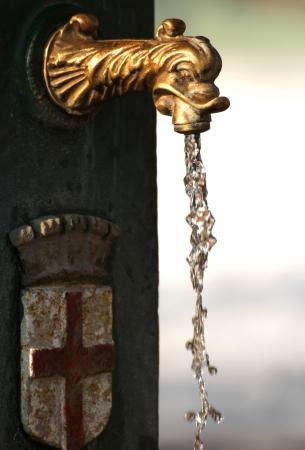 at milan: Milan public fountain Stock Photo