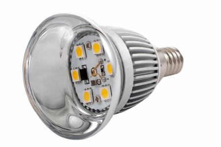 LED light bulb isolated on white background  photo