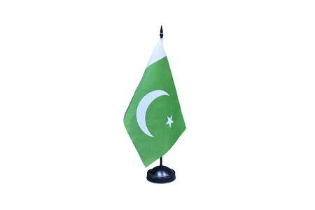 Pakistan flag isolated on white background