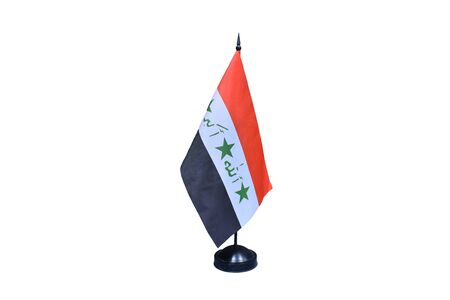 Flag of Iraq Isolated on White Background