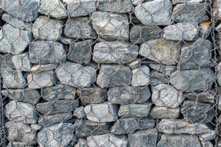 background stones reinforced with mesh