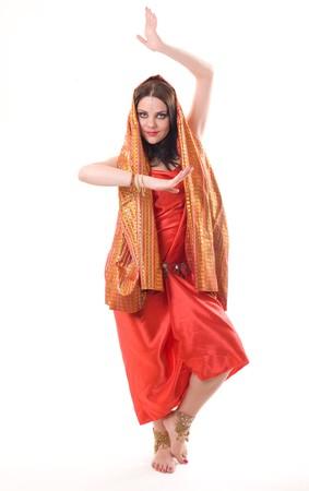bailarinas arabes: Retrato de una mujer India en estudio