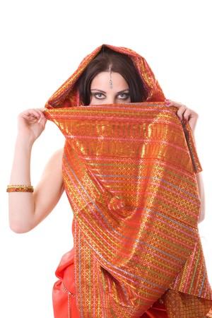 Portrait of indian woman in studio photo
