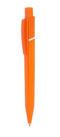 Close up of orange pen isolated with clipping path on white Stock Photo