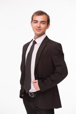 Erfolgreicher weißer Mann