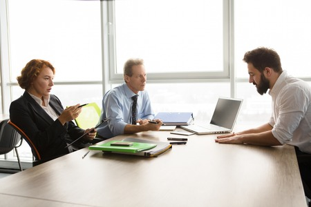 colloquium: Job interview in office Stock Photo