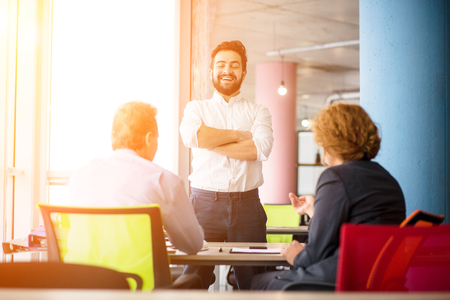 Job interview in office Stock Photo