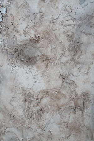 abstract stains of paint on a plastered white wal