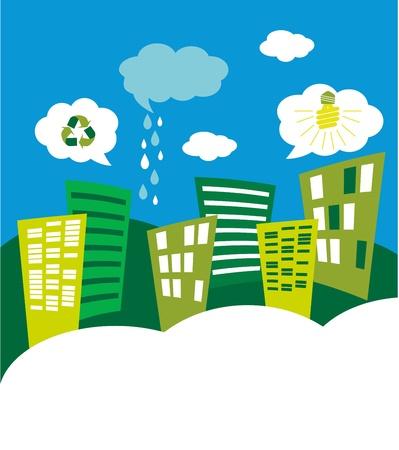 eco green city skyline Stock Vector - 19249020