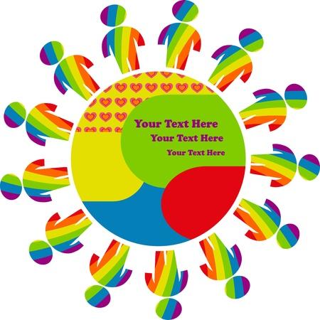 bandera gay: mundo gay Vectores