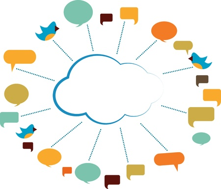 communication cloud with speech bubbles Stock Vector - 19373781