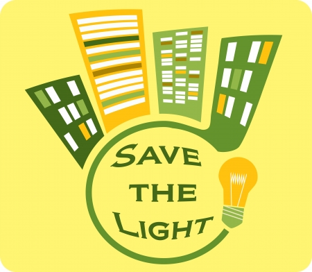 save the light yellow sign Stock Vector - 19373790