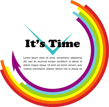 it s time, gay illustration with place for your text Vector