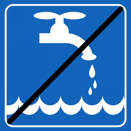 protection icon: save the water blue sign; save the environment illustration Illustration