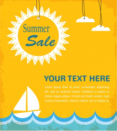 zomer te koop infographic Stock Illustratie