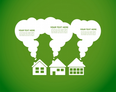 real world: green village and clean enviroment, infographics