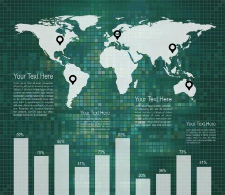 Infographic design template - Data Display Vector