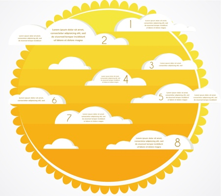Good weather infographics. sky with clouds and sun Vector