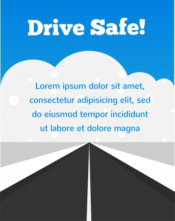 drive carefully at winter time Stock Vector - 22140269