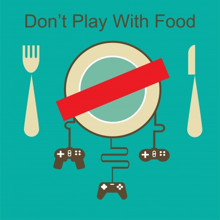 game pad: don t play with your food Illustration