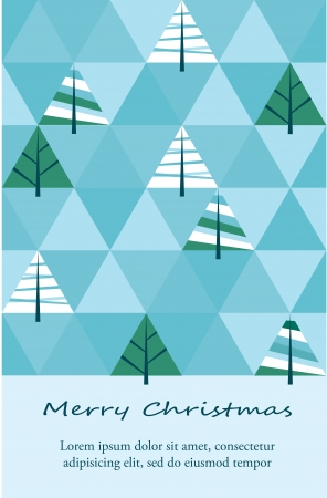 Winter background with triangle texture and christmas trees Vector