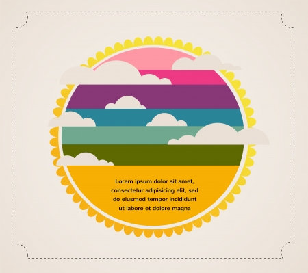 abstract sky with cloud and sun with place for your text  Vector