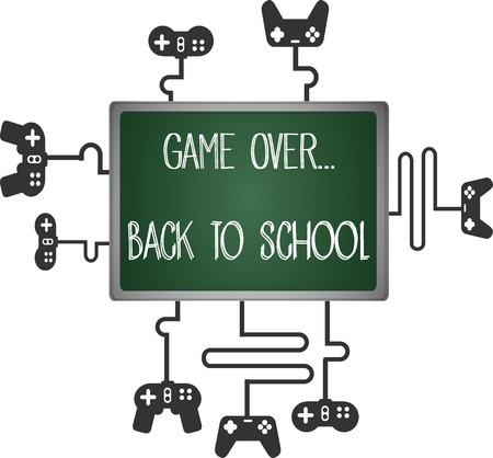 game over, back to school  Vector