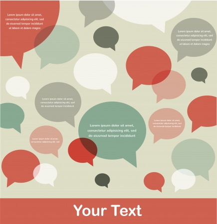 retro background of bird communication with speech bubbles, infographics  Vector
