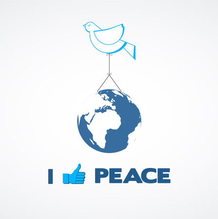 peace dove holding a globe  Vector