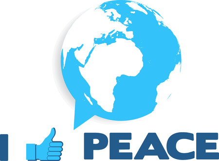 Peace, globe as speech bubble  Vector