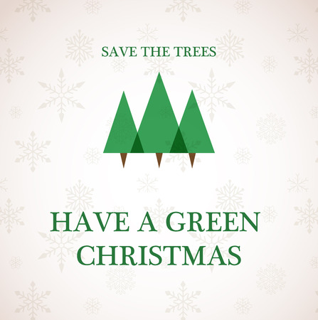 have a green christmas , recycle trees, vector illustration  Vector