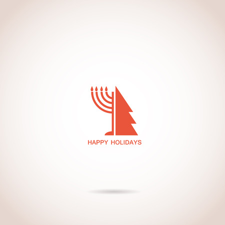happy Hanukkah and happy holidays, jewish holiday menorah Stock Vector - 22961658