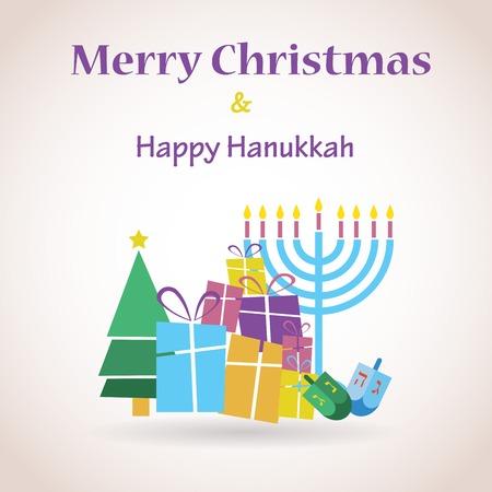 gelukkig Chanoeka en gelukkige vakantie, joodse vakantie menorah