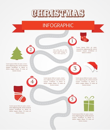 merry christmas infographics , set of objects and icons