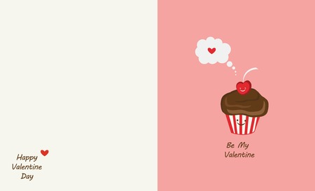 ornamente: muffin and cherry best friends. Happy Valentines