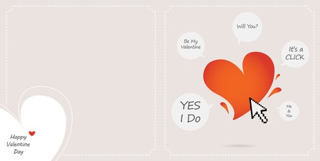 happy Valentine card, with different answers for love Vector