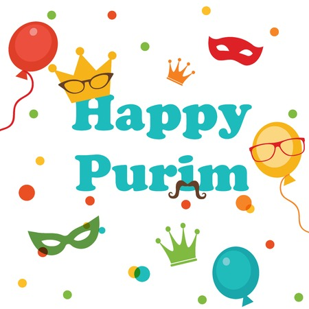 purim carnival: Jewish holiday Purim set   Vector illustration