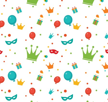Jewish holiday Purim pattern  Vector illustration Vector