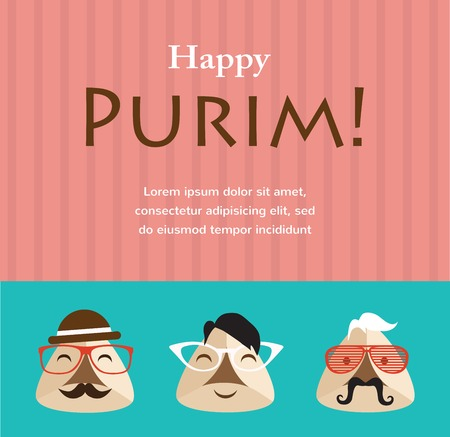 moleskine: Purim party invitation with hipster Haman Ears