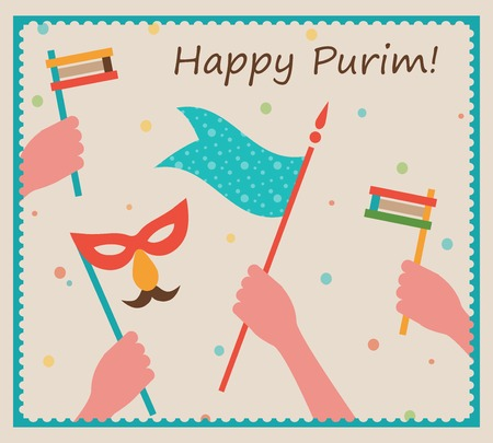 purim: Happy Purim. Party or festival  Invitation design