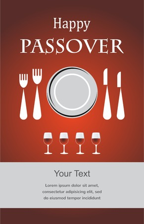 seyder: Jewish Passover holiday Seder invitation   Vector illustration